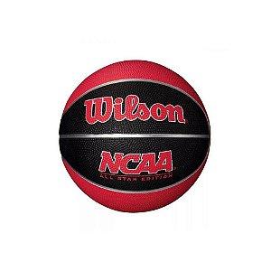 Mini Bola de Basquete Wilson NCAA - Azul e amarelo Baby