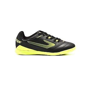 Chuteira Topper Boleiro II Futsal - Preto e Amarelo