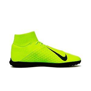 Chuteira Futsal Nike Phantom Vision Club DF IC - Verde Limão e Azul Royal