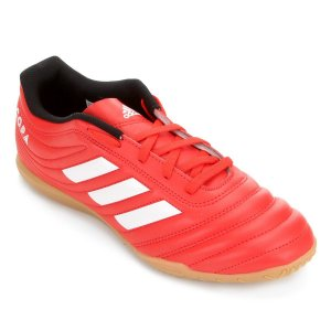 Chuteira Futsal Adidas Copa 20 4 IN - Vermelho e Branco EF1957