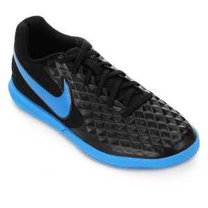 Chuteira Futsal Nike Tiempo Legend 8 Club - Preto e Azul