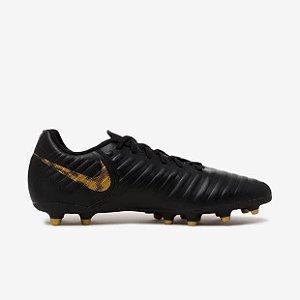 Chuteira Campo Nike Legend Club Ao2597-077 Preto/dourado