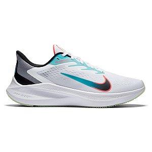 Tênis Nike Zoom Winflo 7 Masculino - Branco e Preto CJ0291-100