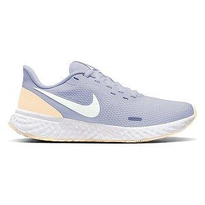 Tênis Nike Revolution 5 Feminino - Azul e Branco BQ3207-010