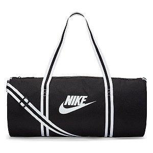 Bolsa Nike Heritage Duff - Preto e Branco BA6147-010