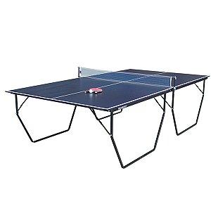 Mesa de Ping Pong / Tênis de Mesa Procópio c/ Rodas 15mm MDP - Azul e Preto