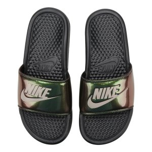 Sandália Nike Benassi Jdi Print Feminina - Preto
