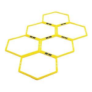 Escada Agilidade Pró Treinamento Funcional Hexagonal de PVC 6 Módulos- 50 cm 09117 - Poker