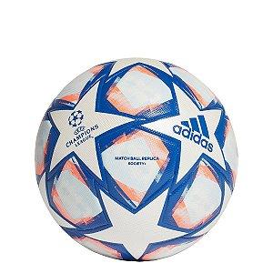 Bola de Futebol Society Adidas UEFA Champions League Finale 20 Match Ball Réplica - Branco e Azul Royal