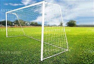 Rede para Futebol Society / Suiço 5mts Fio 4mm - Nylon F5-4