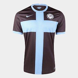 Camisa Corinthians III 20/21 s/n° Torcedor Nike Masculina - Marrom e Azul