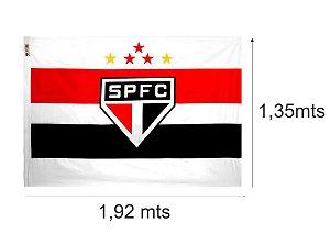 Bandeira do São Paulo Futebol Clube Oficial - Branco 193x135 - 3 Panos