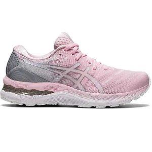 Tenis Asics Gel Nimbus 23 -  Feminino - Rosa e Branco