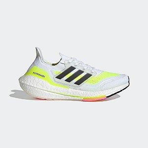 Tênis Ultraboost 21 Adidas - Branco+Rosa FY0377