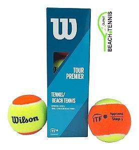 Bola De Beach Tênis Wilson Tour Premier - 3 Unidades