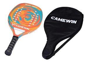 Raquete Beach Tennis Camewin Fibra Carbono + Capa