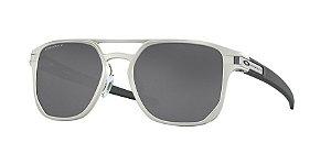 Oakley Latch Alpha OO4128 Matte Silver Lentes Prizm Black Polarized 01