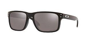 Oakley Holbrook OO9102L Polished Black Lentes Prizm Grey/Black Iridium E1