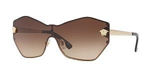 Versace VE2182 GLAM MEDUSA SHIELD Pale Gold Lentes Brown Gradient