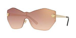 Versace VE2182 GLAM MEDUSA SHIELD Pale Gold Lentes Gradient Pink Mirror Pink
