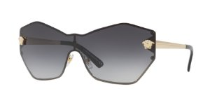 Versace VE2182 GLAM MEDUSA SHIELD Pale Gold Lentes Grey Gradient