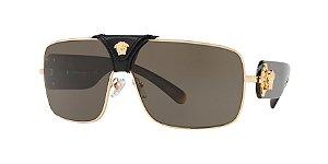 Versace VE2207Q SQUARED BAROQUE Gold Lentes Brown