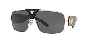 Versace VE2207Q SQUARED BAROQUE Gold Lentes Grey