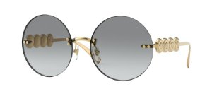 Versace VE2214  Gold Lentes Grey Gradient