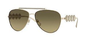Versace VE2219B  Pale Gold Lentes Brown Gradient Grey