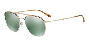 Giorgio Armani AR6058J Yellow Havana/Matte Pale Gold Lentes Mirror Green