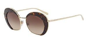 Giorgio Armani AR6067 Pale Gold/Havana Lentes Brown Gradient