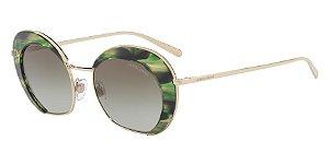 Giorgio Armani AR6067 Pale Gold/Striped Green Lentes Green Gradient