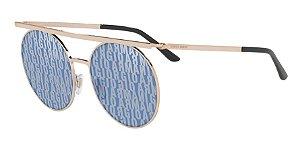 Giorgio Armani AR6069 Rose Gold Lentes Blue Tamp Ga  Silver Blue