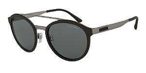 Giorgio Armani AR6077 Matte Gunmetal/Black Rubber Lentes Grey