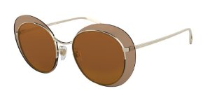 Giorgio Armani AR6079 Pale Gold Lentes Brown Mirror Gold