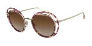 Giorgio Armani AR6081 Striped Brown/Pale Gold Lentes Brown Gradient