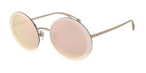 Giorgio Armani AR6087 Bronze Lentes Grey Mirror Rose Gold