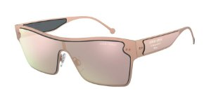 Giorgio Armani AR6088 Brushed Bronze Lentes Grey Mirror Rose Gold