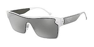 Giorgio Armani AR6088 Brushed Silver Lentes Grey Mirror Silver