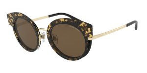 Giorgio Armani AR6091 Pale Gold/Top Havana Black Lentes Brown