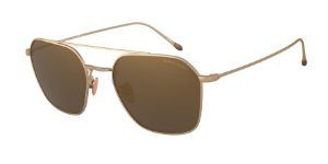Giorgio Armani AR6095T Bronze Lentes Light Brown Mirror Gold