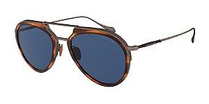 Giorgio Armani AR6097 Striped Brown/Brushed Bronze Lentes Blue