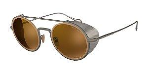 Giorgio Armani AR6098 Brushed Gunmetal Lentes Brown Mirror Gold