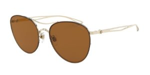 Giorgio Armani AR6101 Pale Gold Lentes Brown Mirror Gold