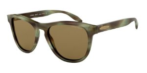 Giorgio Armani AR8116 Striped Green Lentes Brown