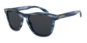 Giorgio Armani AR8116 Striped Blue Lentes Grey
