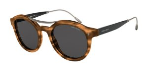 Giorgio Armani AR8119 Striped Brown Lentes Grey