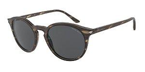 Giorgio Armani AR8122 Matte Striped Brown Lentes Grey