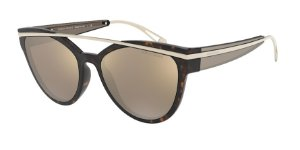 Giorgio Armani AR8124 Havana Lentes Light Brown Mirror Gold