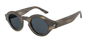 Giorgio Armani AR8126 Matte Striped Brown Lentes Grey